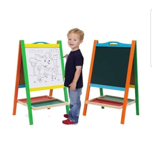 Tabla educativa copii,2 in 1 cu suport,accesorii si maner