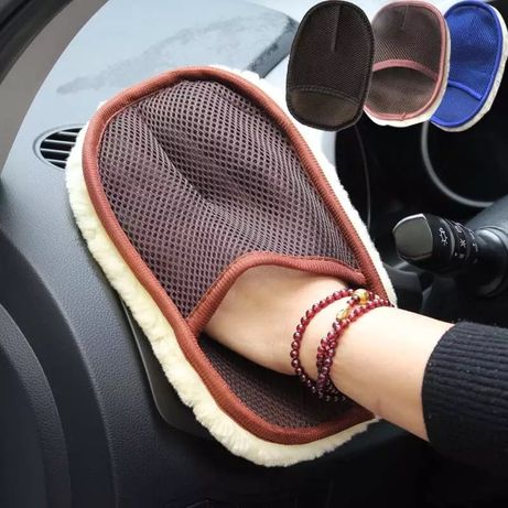 Car Styling Wool Soft Car Washing Gloves 15*24cm Automotive Cleaning