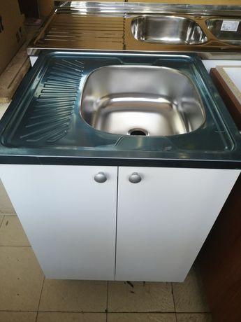 Нов Шкаф с мивка 60/60 за кухня.Кухненска мивка