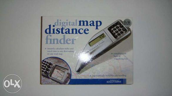 Уред за измерване на разстояние от карти