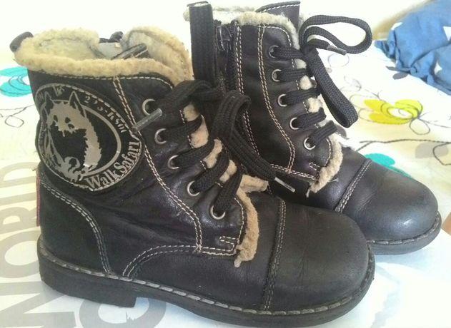 Сапоги детские зимние демисезонные ботинки р 23 Натуральная кожа и мех