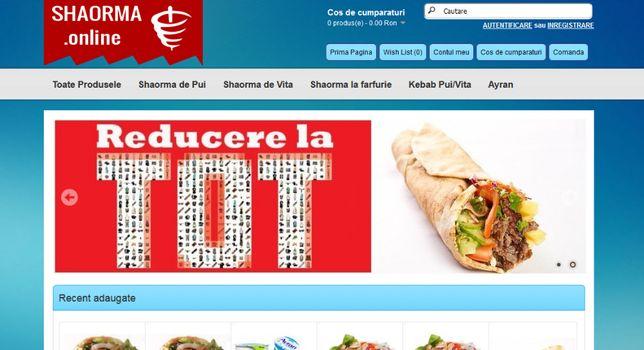 Shaorma fast-food burger magazin online la cheie