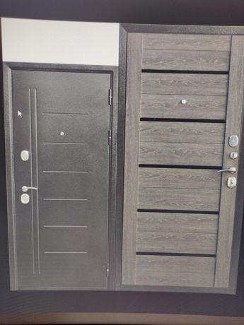 Дверь входная Троя Серебро дымчатый дуб. 860мм. Левая.