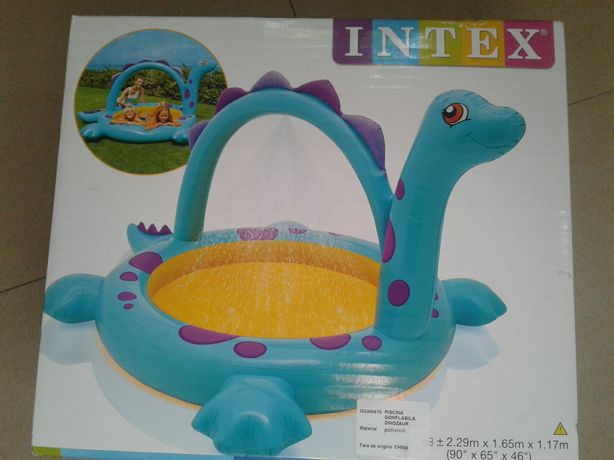 Centru distractii apa/piscina Intex Dino, 229x165x117cm, nou, sigilat