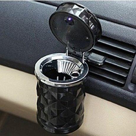 Допълнителен пепелник за кола с вградено осветление