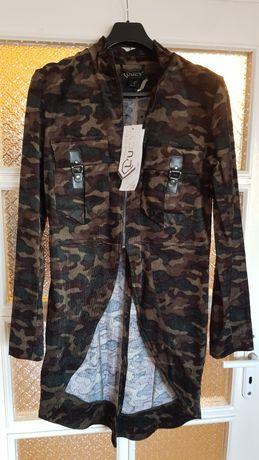 Чисто ново дизайнерско камуфлажно палто от Луци Фешън