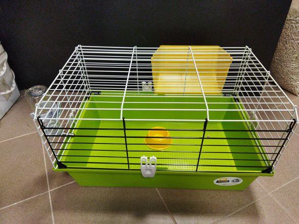 Нова! клетка за малко зайче или морско свинче.оборудвана