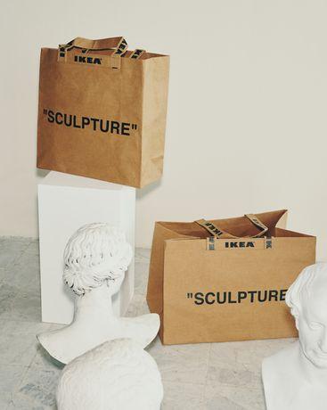 "Off White x IKEA ""SCULPTURE"" Virgil Abloh Shopping Bag M si L"