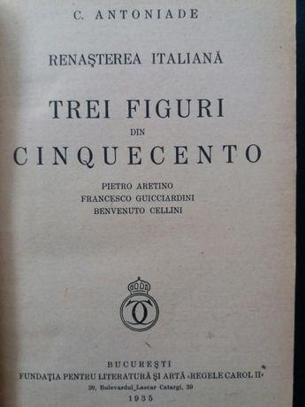 "C.Antoniade 1935 ""Trei figuri din Cinquecento"" Fundatia Carol II"