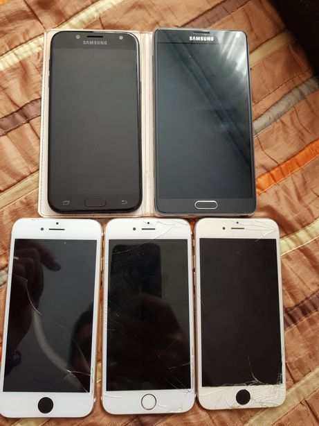 Lot telefoane iphone,6,6s,7, samsung j5 2018 si note 4