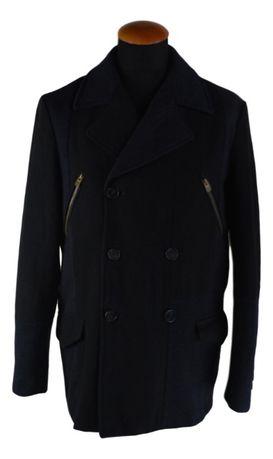 Palton Barbati Desigual Marimea 50 Albastru&Negru Lana Carouri XQ13