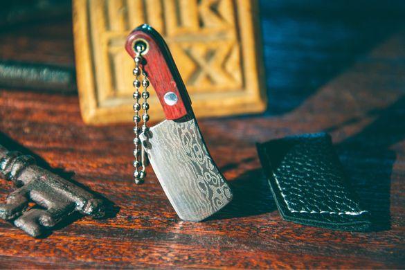 Мини ножче, ключодържател с кожена кания