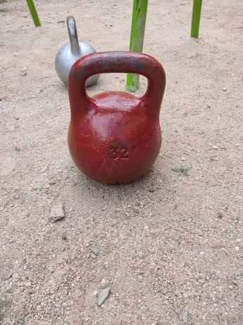 Гиря 32 кг советская