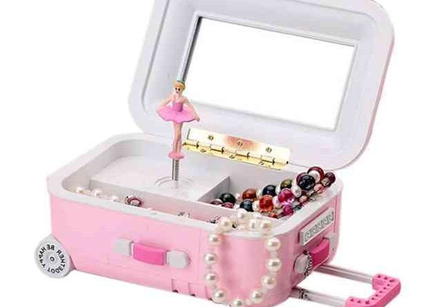 Музыкальная шкатулка чемодан танцующая балерина.