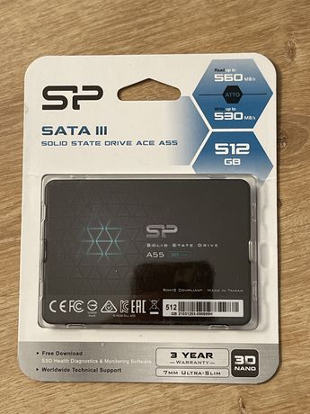 """Solid State Drive (SSD) Silicon Power A55, 512GB, 2.5"""", 7mm, SATA III"""