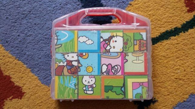 Puzzle Hello Kitty cuburi 4x4cm