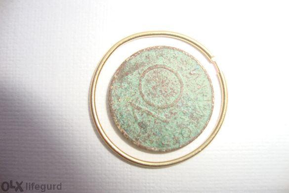 Златна обеца18 карата-размер--2,4 см-амо една е