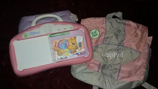 Leapfrog Little Touch roz + carte +geanta