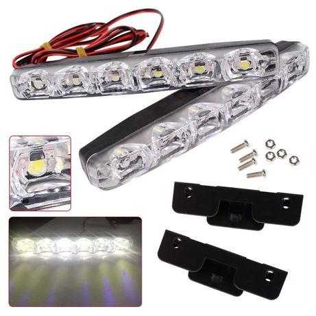 2 бр. К-т Дневни Светлини Халогени Диодни 15.5см LED DRL 12V 12в