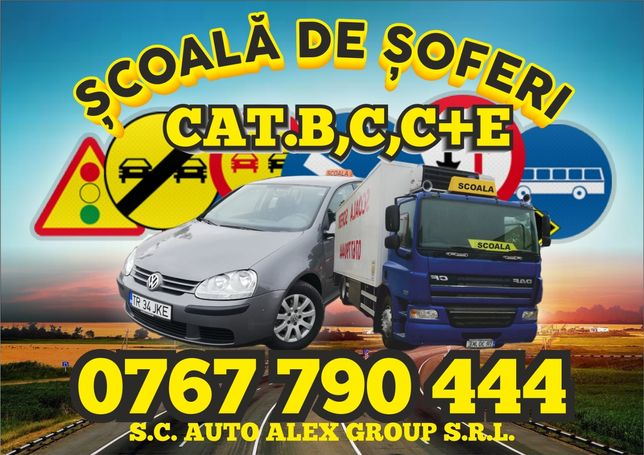 Instructor auto, scoala de soferi cat.B,C,C+E