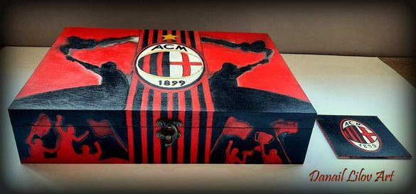 Милан ( Milan) - ръчно рисувана кутия за съхранение