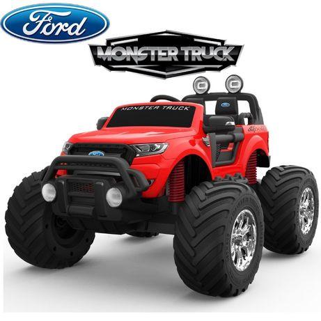 Masinuta electrică pentru 2 copii Ford Monster TRUCK 4x4 24V 7Ah #RED