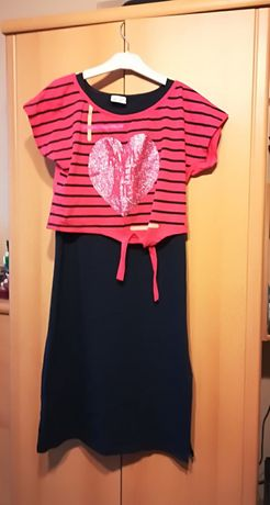 Свежа лятна рокля от две части и джинси