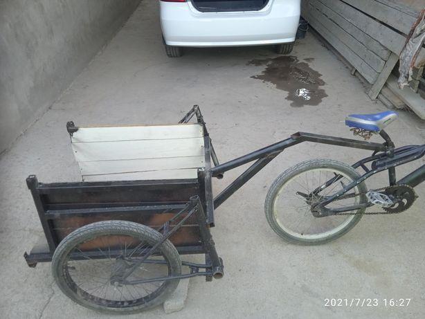 Велосипед БМХ с тележкой