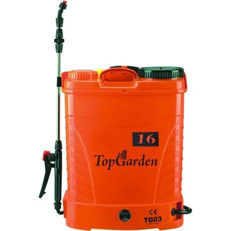 Pompa stropit cu acumulator 16L, 12V, 8Ah, Topgarden 380321 - PROMOTIE