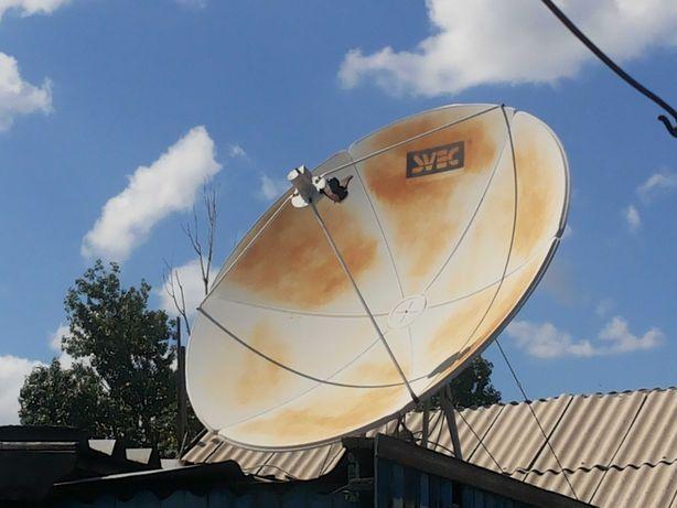 Спутниковая тарелка svec состояние отличное . И 2 пушки 5000tenge.сроч