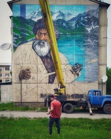 Роспись стен. Муралы. Граффити. Барельеф. Художник