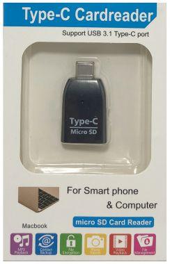 Adaptor OTG, cititor de card micro SD - mufa USB Type-C, tata