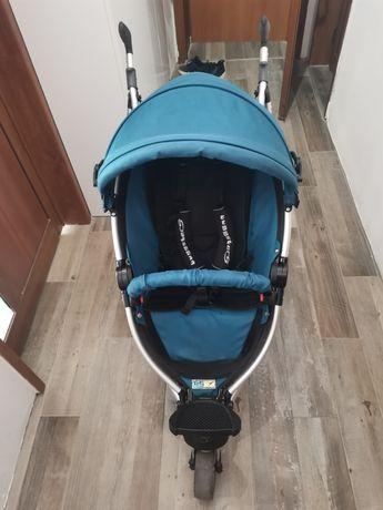 TFK - Бебешка количка BUGGSTER S Carbon Ocean Blue