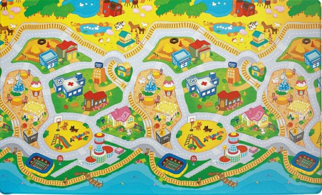 Большой детский игровой коврик Dwinguler My Town