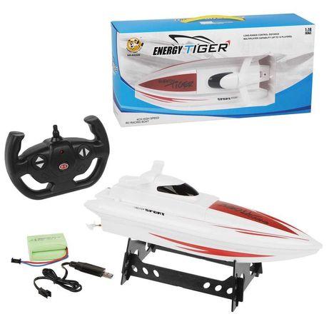 Радиоуправляемый катер Energy Tiger. На пульте управления катера лодки