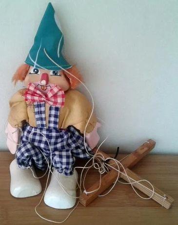 Marioneta arlechin clovn 20 cm