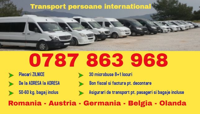 ZILNIC transport persoane cs h Romania Austria Germania plecari adresa
