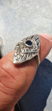 Vintage inel argint cu pietre semiprețioase Deosebita handmade