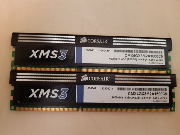 kit memorie pc corsair xms3 4gb 2x2gb