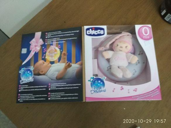 Музикална светеща играчка - луна, розова, CHICCO