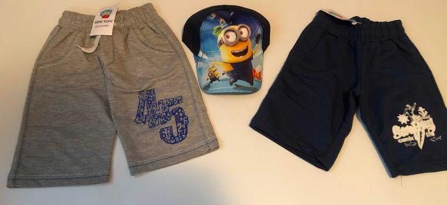 Pantaloni scurti pentru baieti, 4 ani + o sapca CADOU!