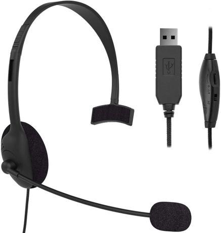 Компютърни слушалки с USB премахване на шума за офис, бизнес разговори