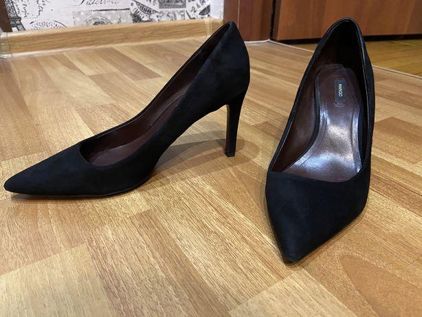 Черные туфли-лодочки Mango