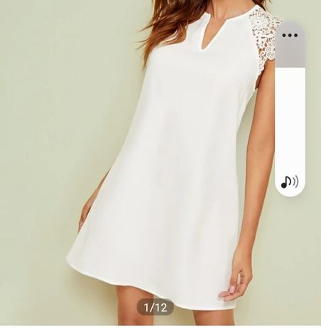 Бяла рокля размер Л