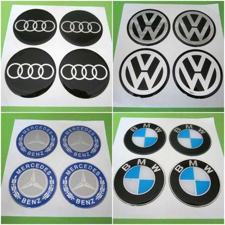 Стикери за Капачки Джанти за Тасове Силиконови VW BMW AUDI MERCEDES