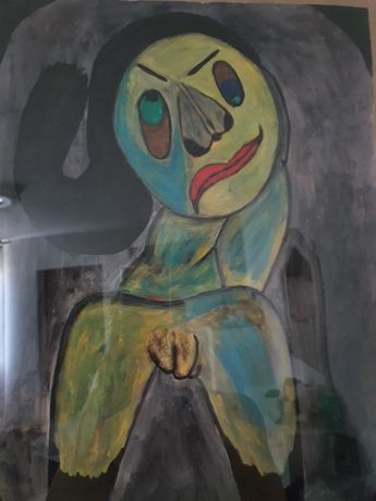 Tablou Unicat Pictat la Paris Chipul Gânditor