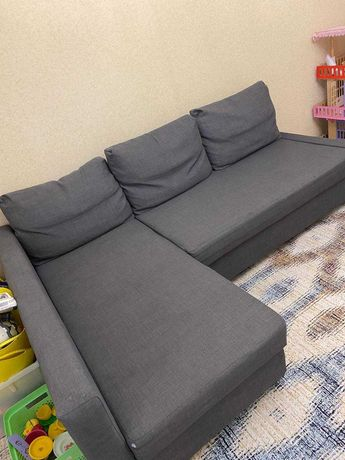 Угловой диван с отделением для хранения серого цвета ИКЕА