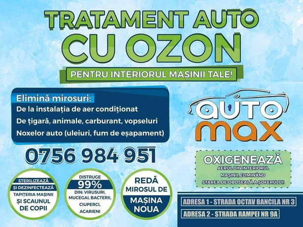 Tratament cu OZON - Auto Max Iasi