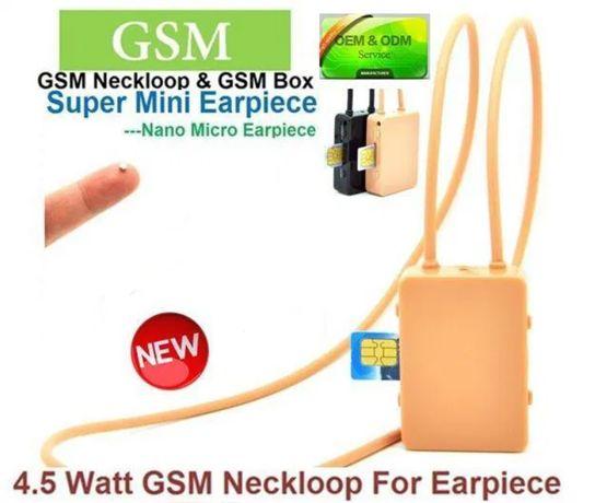 Cutiuta GSM cu Casti Microvibratii pe timpan sistem de Casca pt Copiat