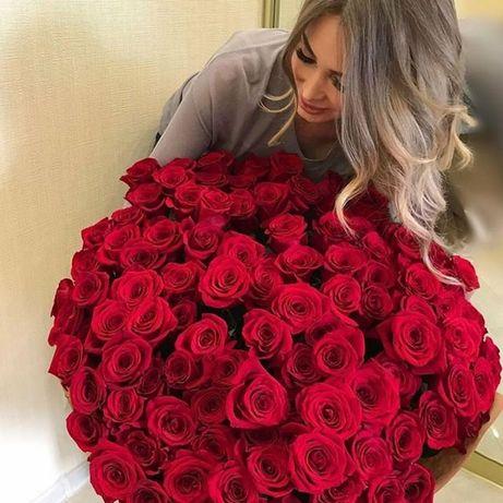 Цветы розы, букет из роз доставка